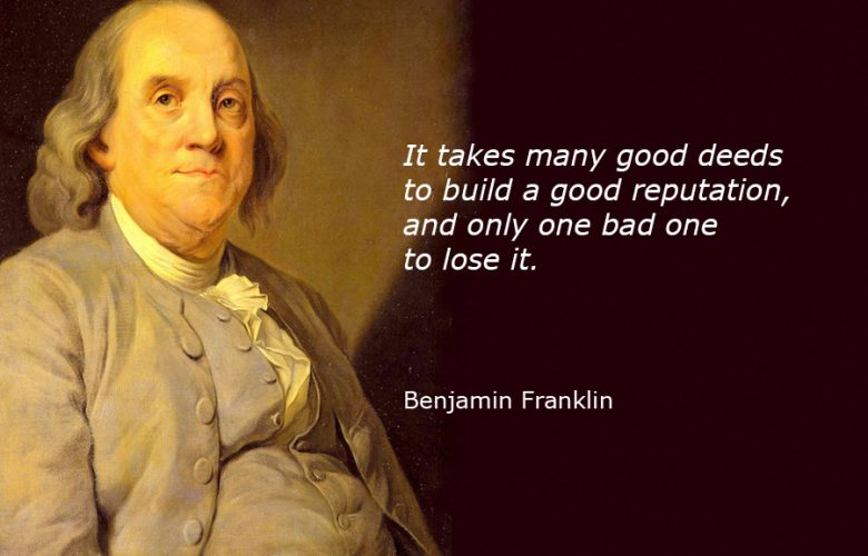 سخن زیبا از بنجامین فرانکلین